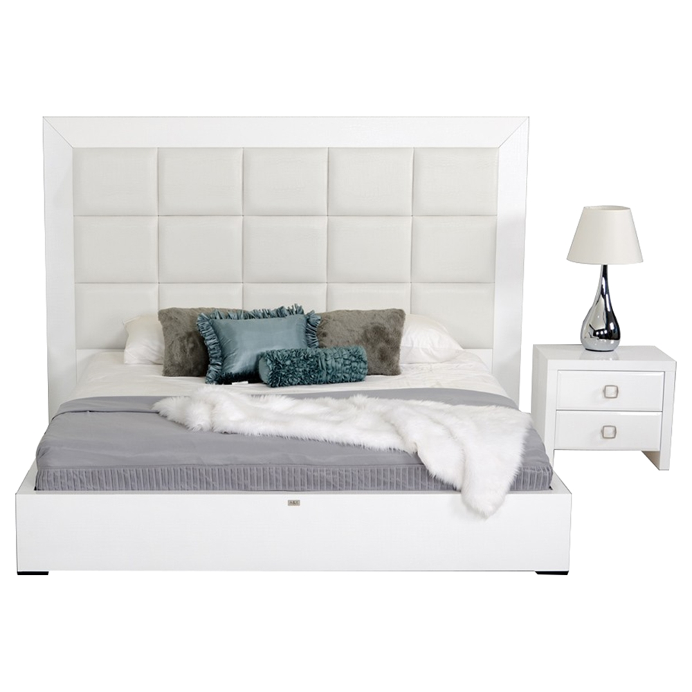 A&X Glam 2 Pieces Lacquer Bedroom Set