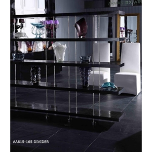 A&X Stafford Crocodile Room Divider - Black