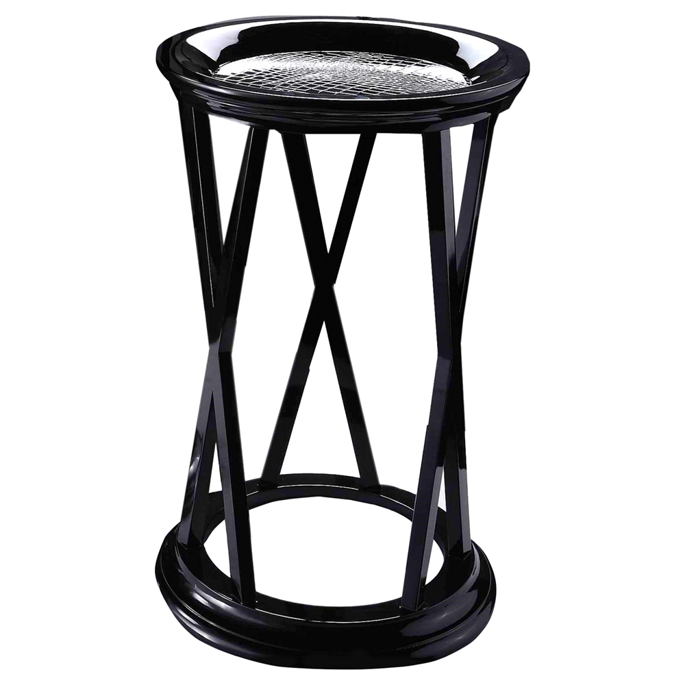 Round end table black dcg stores for Black round end table