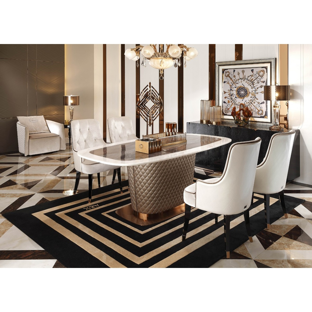 A Amp X Larissa Modern Fabric Dining Chair Tufted White