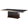 A&X Talin Modern Dining Table - Black Crocodile and Rosegold - VIG-VGUNCC842-240