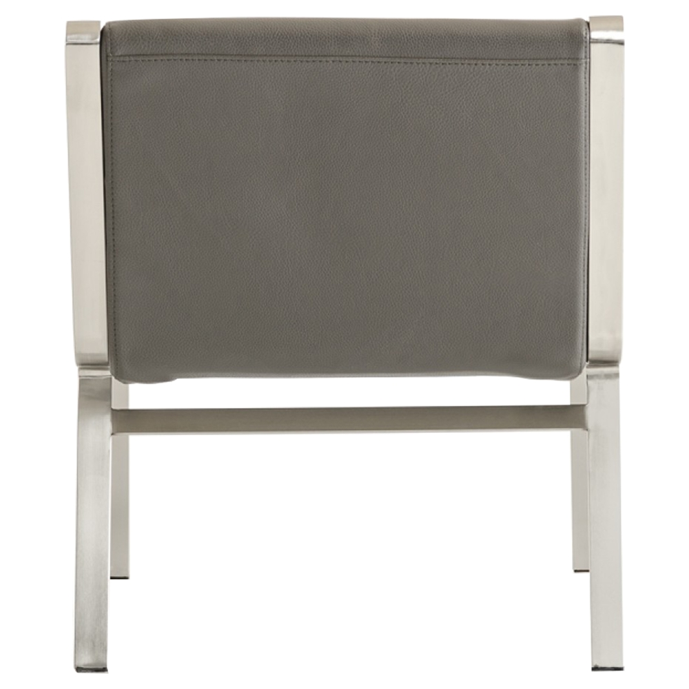 Modrest Brody Modern Bonded Leather Accent Chair Gray