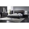 Nova Domus Cartier Modern 4 Pieces Bedroom Set - Black and Brushed ...