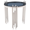 Modrest Totem End Table - Smoked, Chrome - VIG-VGVCET815