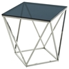 Modern Vector Modern End Table - Smoked, Chrome - VIG-VGVCET852