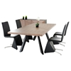 Modrest Vanguard Dining Table - Walnut, Black - VIG-VGVCT1108-22-WAL