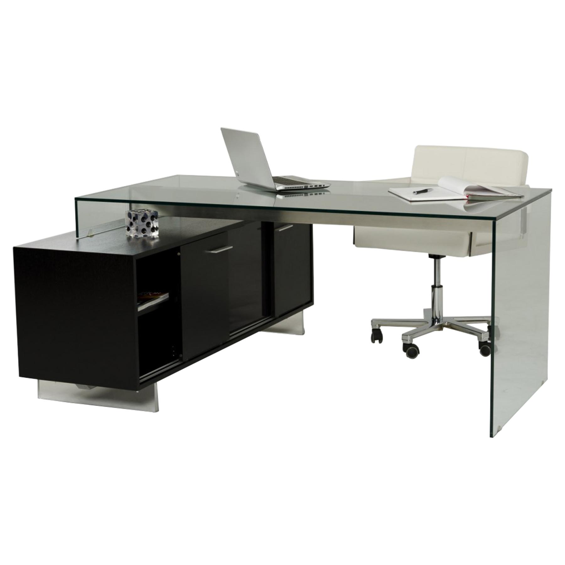 Attractive Modrest Alaska Office Desk   Black Oak   VIG VGWCALASKA OFF BLK ...