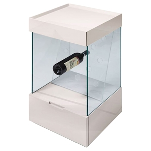 Modrest Vine Wine Shelf - White, 1 Drawer