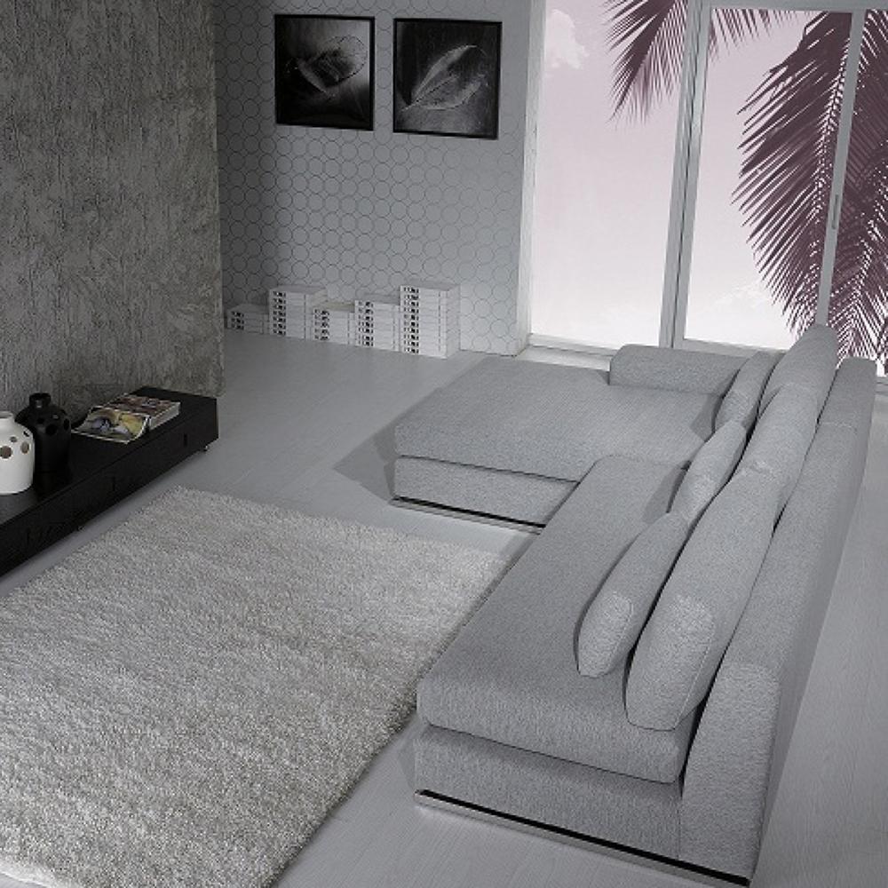 Divani Casa Ashfield Sectional Sofa - Gray  DCG Stores
