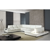 Divani Casa Leather Sectional Sofa with Light - White - VIG-VGYIT35-1