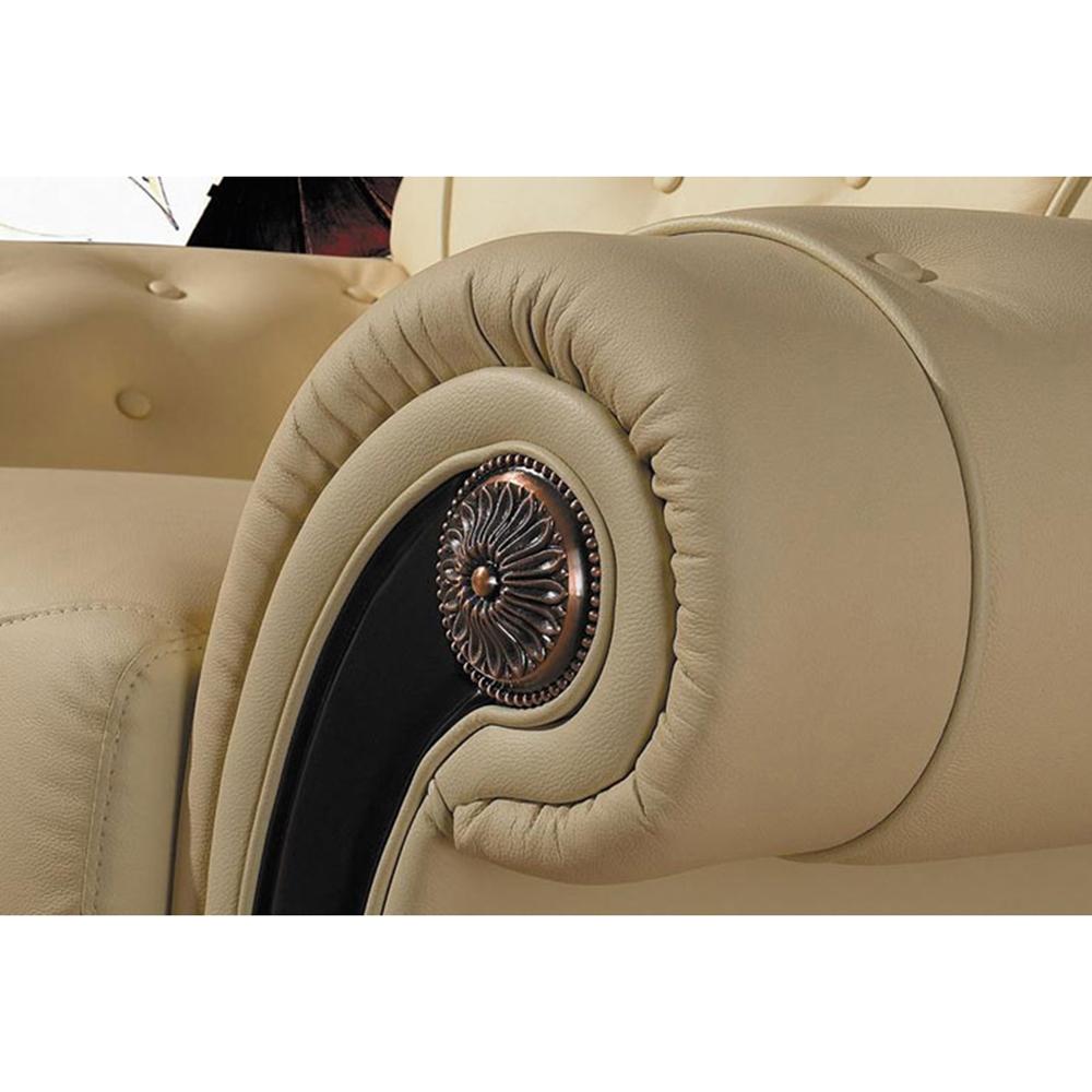 Cleopatra Leather Sofa Set White Tufted Dcg Stores