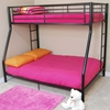 Bunk Bed - Sunset Twin / Double Size Bunk Bed in Black - WAL-BTODBL