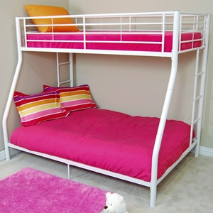 Bunk Bed - Sunrise Twin / Double Size Bunk Bed in White