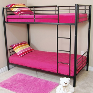 Bunk Bed - Sunset Twin / Twin Size Bunk Bed in Black