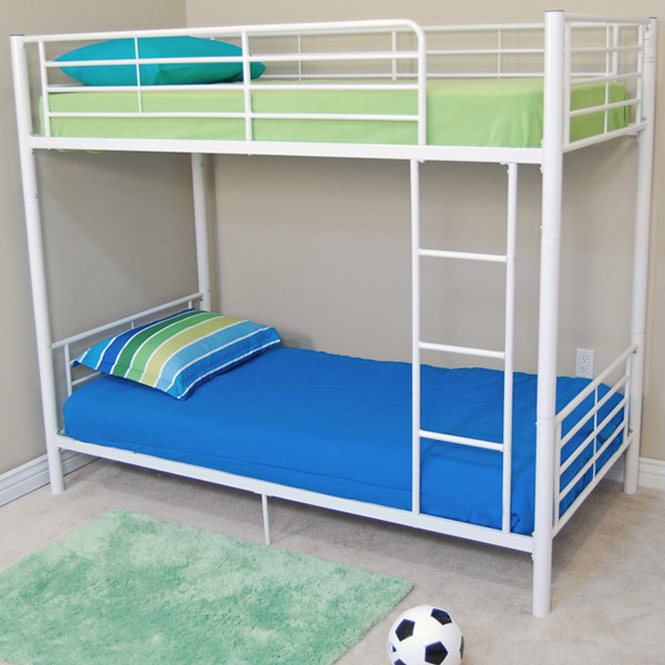 Bunk bed sunrise twin twin size bunk bed in white - Literas para adultos ...