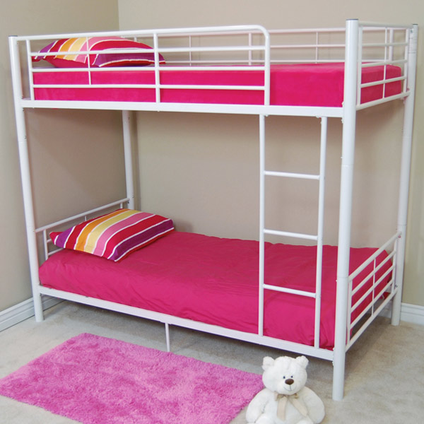 Bunk Bed - Sunrise Twin / Twin Size Bunk Bed in White - WAL-BTOTWH
