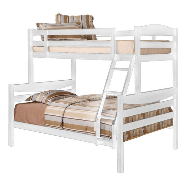 Royalton Twin / Double Size Bunk Bed in White - WAL-BWTODWH