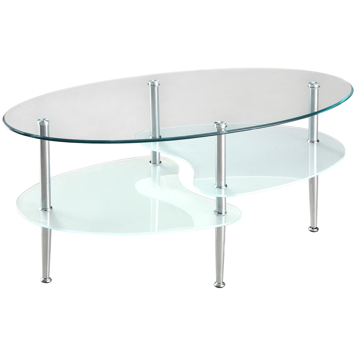 38'' Wave Dual Oval Coffee Table