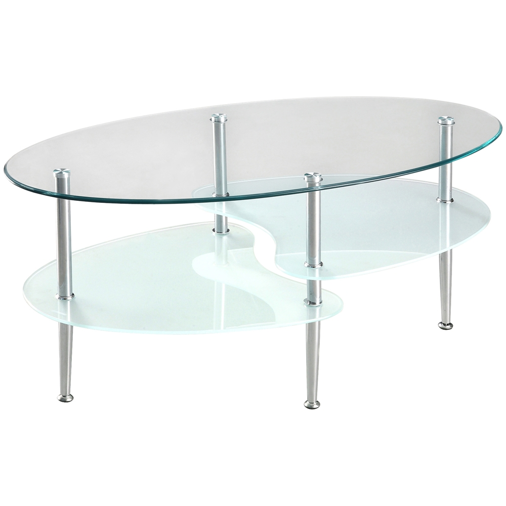 38 39 39 Wave Dual Oval Coffee Table Dcg Stores