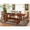 Huntsman Wood Dining Chair - Distressed, Dark Oak (Set of 2) - WAL-CHH2DO