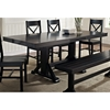 Millwright 6 Piece Wood Dining Set - X Back Chairs, Black - WAL-C60W2BL