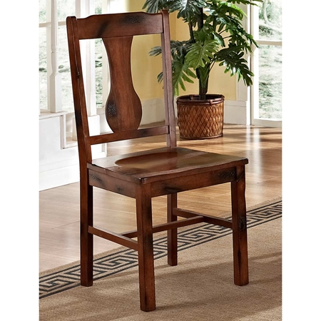 huntsman wood dining chair distressed dark oak set of
