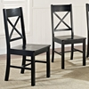 Millwright Wood Dining Chair - X Back, Black (Set of 2) - WAL-CHW2BL