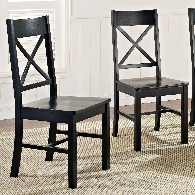 Walker Edison Furniture Company Millwright 6 Piece Black: Millwright 6 Piece Wood Dining Set