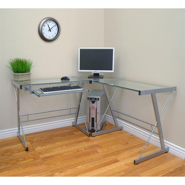 Beau 3 Piece Contemporary Desk   WAL D51L29 ...