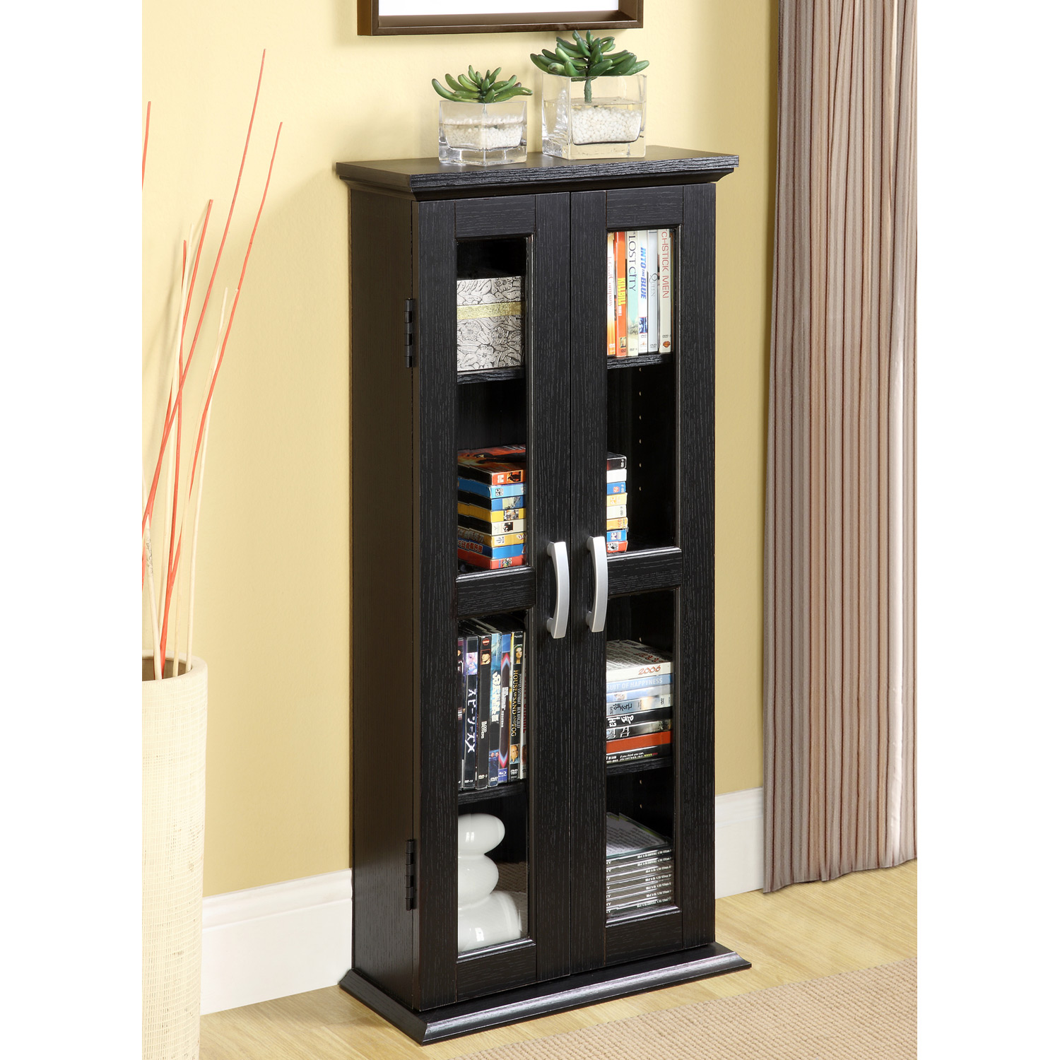 DVD 41 Inch Wood Tower in Black
