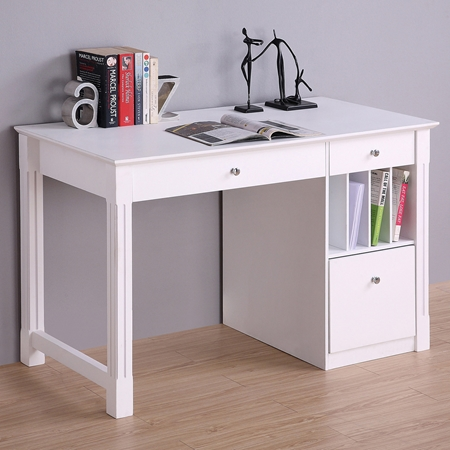 deluxe wood desk hanging file drawer white dcg stores
