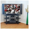 Bermuda 44 inch Corner TV Stand (Black Glass w/ Chrome) - WAL-V44Y76B