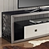 60 tv stand with electric fireplace porter modern mosaic inch steel brushed silver drawers plasma mount