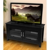 TV Stand - 44 Inch Columbus Wood TV Stand in Black - WAL-W44CFDBL