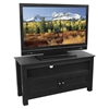 TV Stand - 44 Inch Cortez Wood TV Stand in Black - WAL-W44CSBL