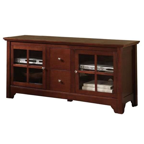 52 inch tv stand with drawers in brown dcg stores for Table 52 botswana