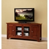 52 Inch TV Stand with 4 Doors in Brown - WAL-W52C4DOWB