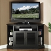 Cottage Style 52 Inch Corner TV Console - Black Finish - WAL-W52CCRBL
