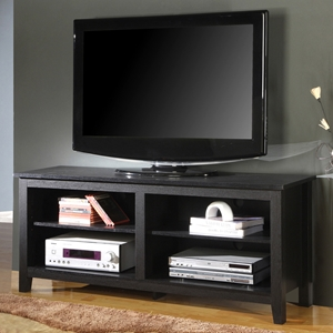 Contemporary 58 Inch Wood TV Console - Black