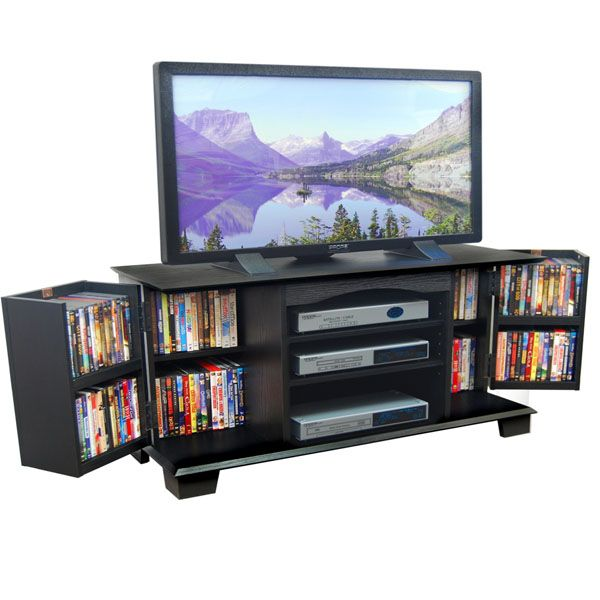 Jamestown 60 Inch Wood TV Stand in Black - WAL-W60C73BL