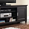 70 Inch Wood TV Console with Sliding Doors - Black Finish - WAL-W70C25SDBL