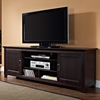 70 Inch Wood TV Console with Sliding Doors - Espresso Finish - WAL-W70C25SDES