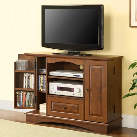 42 39 39 Bedroom Tv Console W Media Storage Traditional Brown Dcg Stores