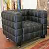 Arriga Black Leather Modern Chair - WI-0717-CHAIR