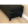 Hathaway Leather Storage Ottoman in Black - WI-125-J023