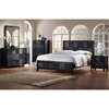 Montserrat 5-Piece Queen Bedroom Set - Black Checkered Veneer - WI-1477-5-PC-BEDROOM-SET
