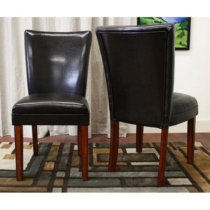 Sofi Dark Brown Leather Dining Chair - WI-2272-BR