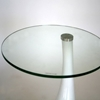 Laramie Round Glass Top End Table with Plastic Base - WI-2309-X
