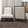 Bristol Tufted Grey Linen Modern Lounge Chair (Set of 2) - WI-2363-C279-CHAIR