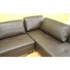Jethro Medium Brown Leather Sectional with Chaise - WI-3112-9211-DARK-BROWN